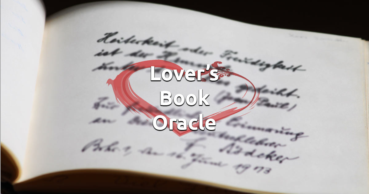 Free Online Lover's Book Oracle